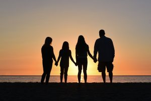 family sunset covid